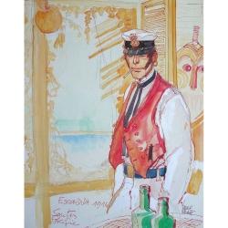 Poster offset Corto Maltese, South Pacific (24x30cm)