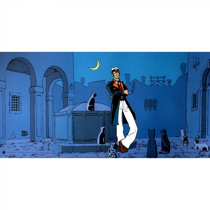 Póster cartel offset Corto Maltés, El Mundo es un Teatro (100x50cm)