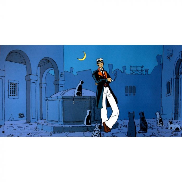 Poster offset Corto Maltese, The World Is a Theater (100x50cm)