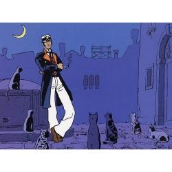 Poster affiche offset Corto Maltese, Le Monde Est un Theâtre (24x18cm)
