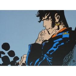 Poster affiche offset Corto Maltese, Un héros, moi... (24x18cm)