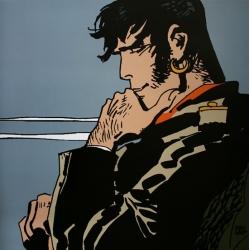 Póster cartel offset Corto Maltés, Un héroe, Yo... (60x60cm)