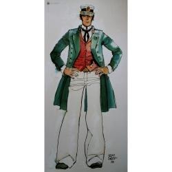 Poster affiche offset Corto Maltese, 40 ans (50x100cm)