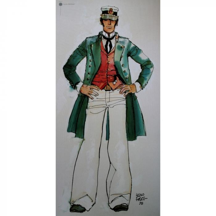 Póster cartel offset Corto Maltés, 40 años (25x50cm)