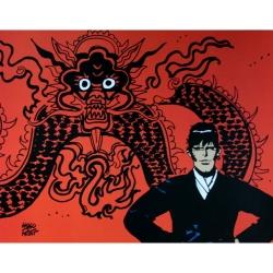 Poster affiche offset Corto Maltese, Mythologie (24x18cm)