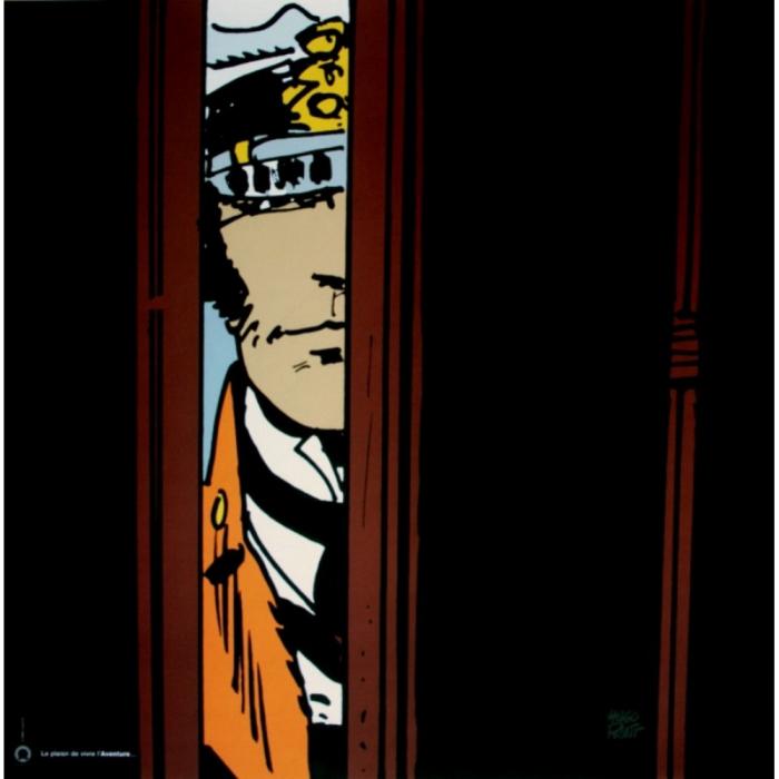 Póster cartel offset Corto Maltés, Aventura (70x70cm)