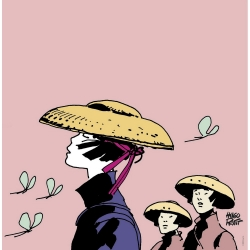Poster offset Corto Maltese, Women without Corto (50x50cm)