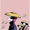 Poster affiche offset Corto Maltese, Les femmes sans Corto (50x50cm)