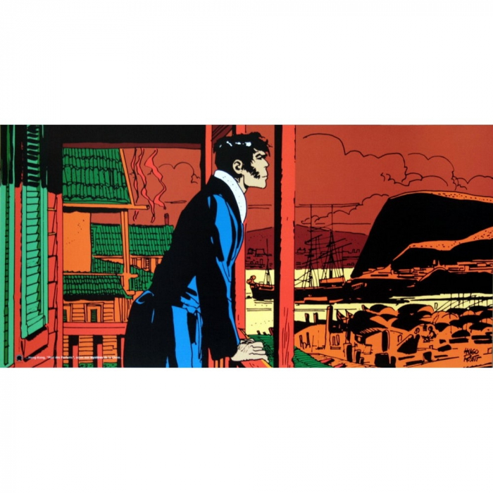 Poster offset Corto Maltese, Mysteries in Hong Kong (100x50cm)