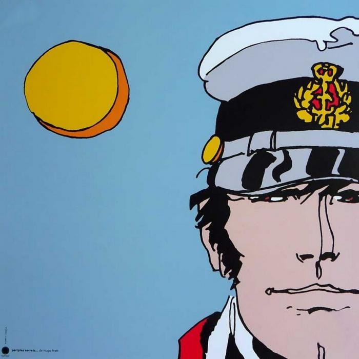 Poster offset Corto Maltese, Secret trips (30x30cm)