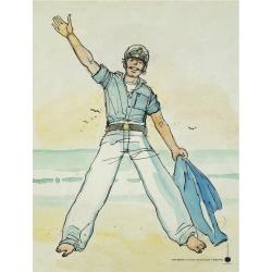 Poster affiche offset Corto Maltese, Una ballata del mare... (18x24cm)