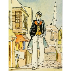 Poster affiche offset Corto Maltese, La Casa Dorata di Samarcanda (18x24cm)