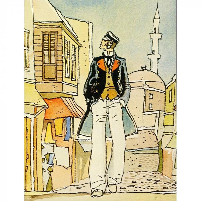Póster cartel offset Corto Maltés, La Casa Dorata di Samarcanda (18x24cm)