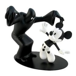 Figurine de collection Leblon-Delienne Disney Mickey et Fantôme Noir NB (2010)