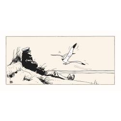 Silkscreen printing Corto Maltese, Marine (100x50cm)