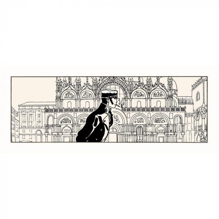 Serigrafía Corto Maltés, Corto en Venecia (50x20cm)