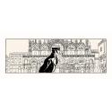 Silkscreen printing Corto Maltese, Corto in Venice (100x40cm)
