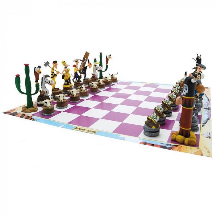 Chess Set with Lucky Luke figures from Plastoy (69001)