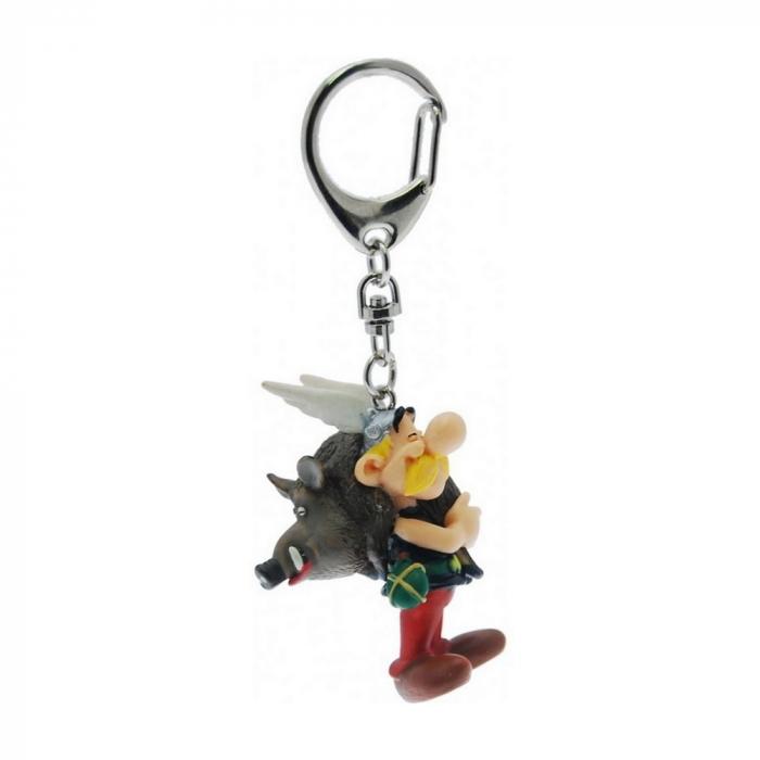 Porte-clés figurine Plastoy Astérix portant un sanglier 60428 (2015)
