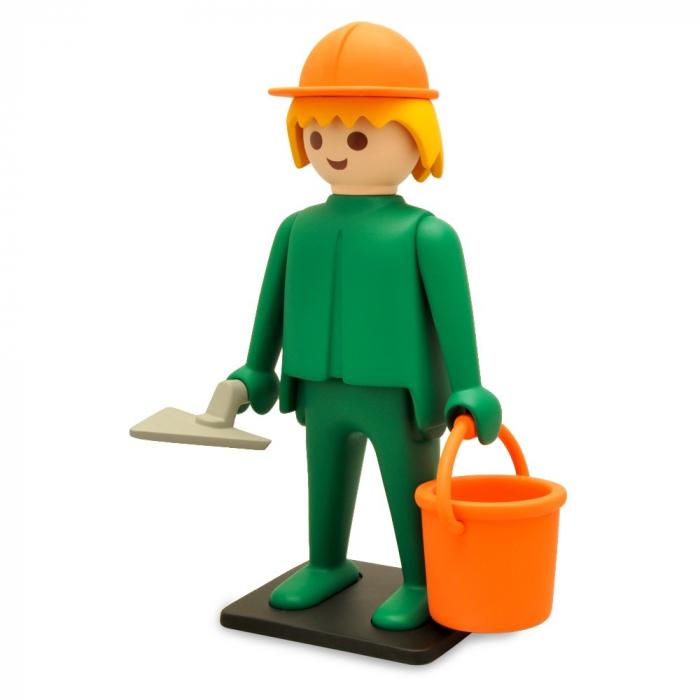 Figurine de collection Plastoy Playmobil l'ouvrier maçon 00214 (2017)