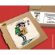 Collectible marble sign Gaston Lagaffe with his urgent file (10x10cm)