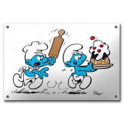 Comics enamel sign collection Coustoon The Smurfs COUS06 (2012)