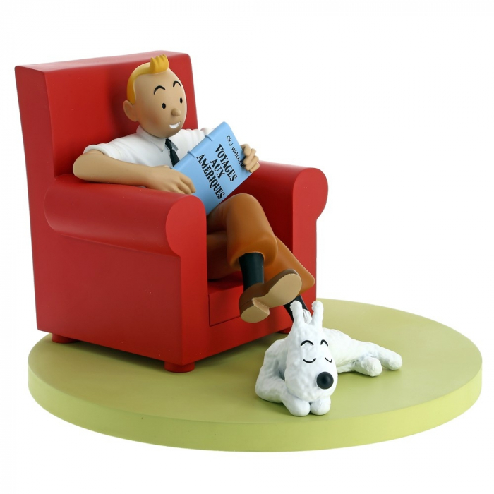 Collectible figure Moulinsart Tintin and Snowy at Home 46404 (2018)