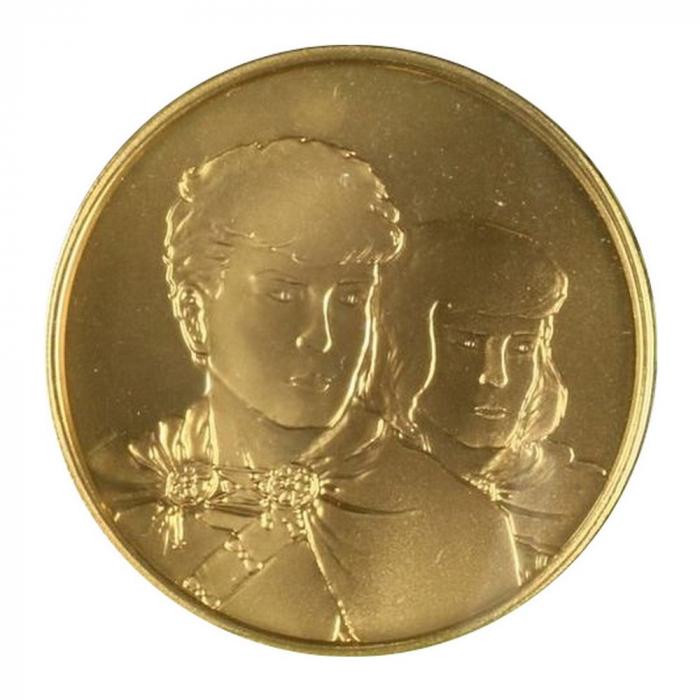 Medalla de colección Real Casa de la Moneda de Bélgica Alix (2005)