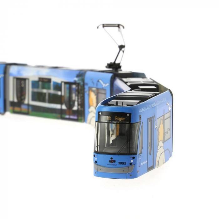 Model of the Belgian Tram STIB HO Tintin Moulinsart 1/87 (2018)