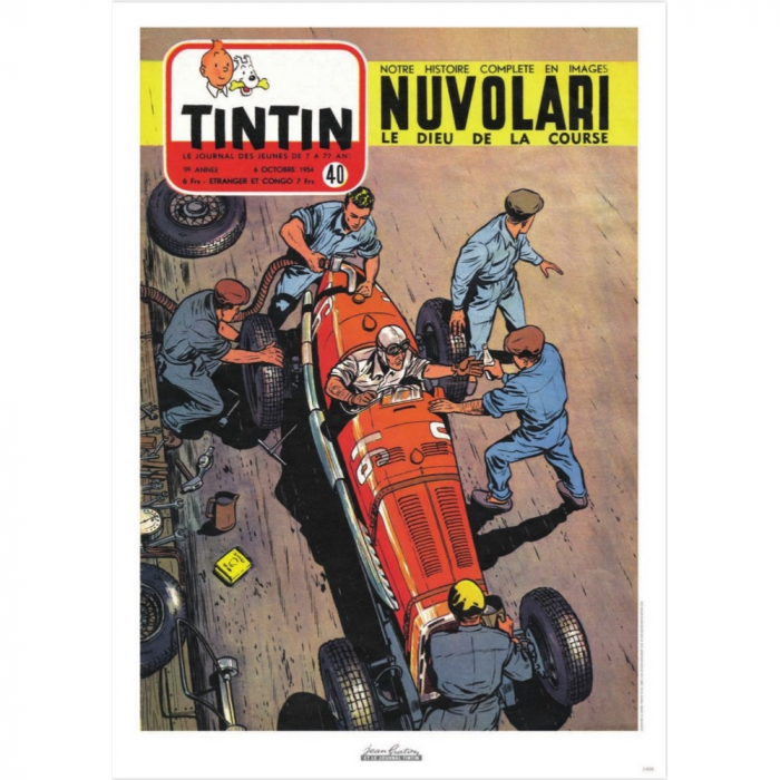 Jean Graton Cover Poster from The Journal of Tintin 1954 Nº40 (50x70cm)