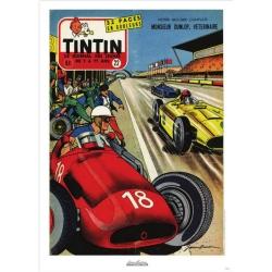 Poster de couverture Jean Graton dans Le Journal de Tintin 1955 Nº32 (50x70cm)