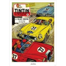 Póster de portada Jean Graton en El Journal de Tintin 1957 Nº44 (50x70cm)