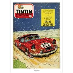 Poster de couverture Jean Graton dans Le Journal de Tintin 1957 Nº47 (50x70cm)