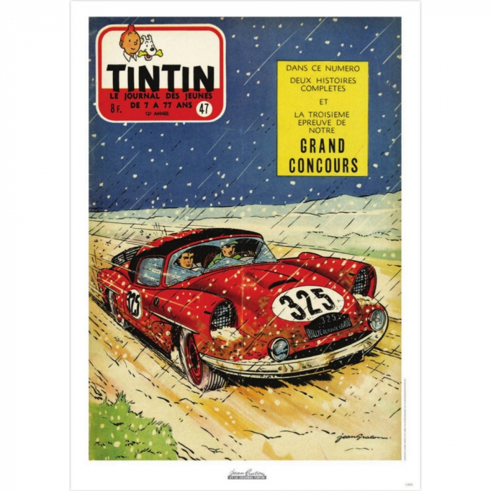 Jean Graton Cover Poster from The Journal of Tintin 1957 Nº47 (50x70cm)