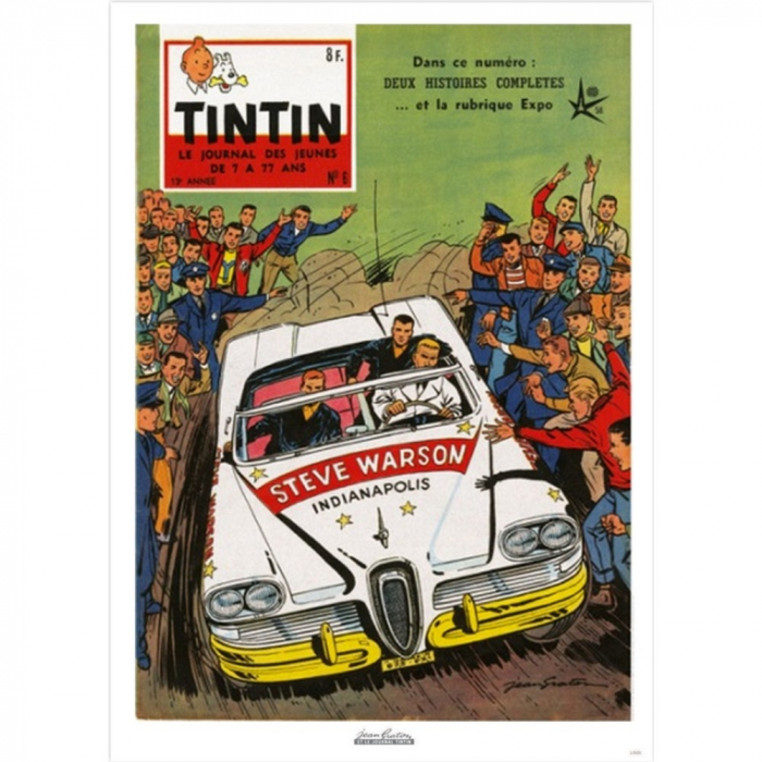 Jean Graton Cover Poster from The Journal of Tintin 1958 Nº06 (50x70cm)