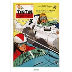 Poster de couverture Jean Graton dans Le Journal de Tintin 1958 Nº26 (50x70cm)