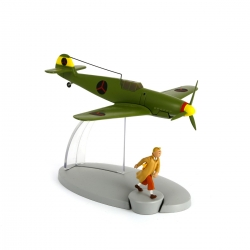 Tintin Figure collection The Bordurian BF-109 fighter plane Nº16 29536 (2014)