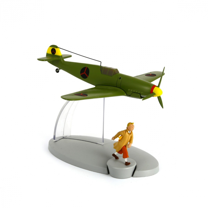 Figurine de collection Tintin L'avion Le chasseur bordure BF-109 29536 (2014)