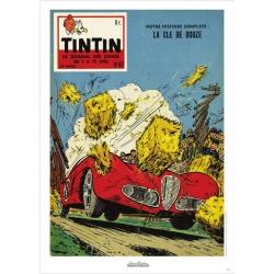 Poster de couverture Jean Graton dans Le Journal de Tintin 1958 Nº47 (50x70cm)