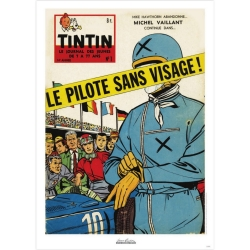 Jean Graton Cover Poster from The Journal of Tintin 1959 Nº01 (50x70cm)