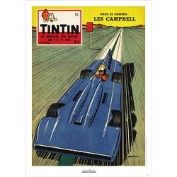 Poster de couverture Jean Graton dans Le Journal de Tintin 1959 Nº04 (50x70cm)