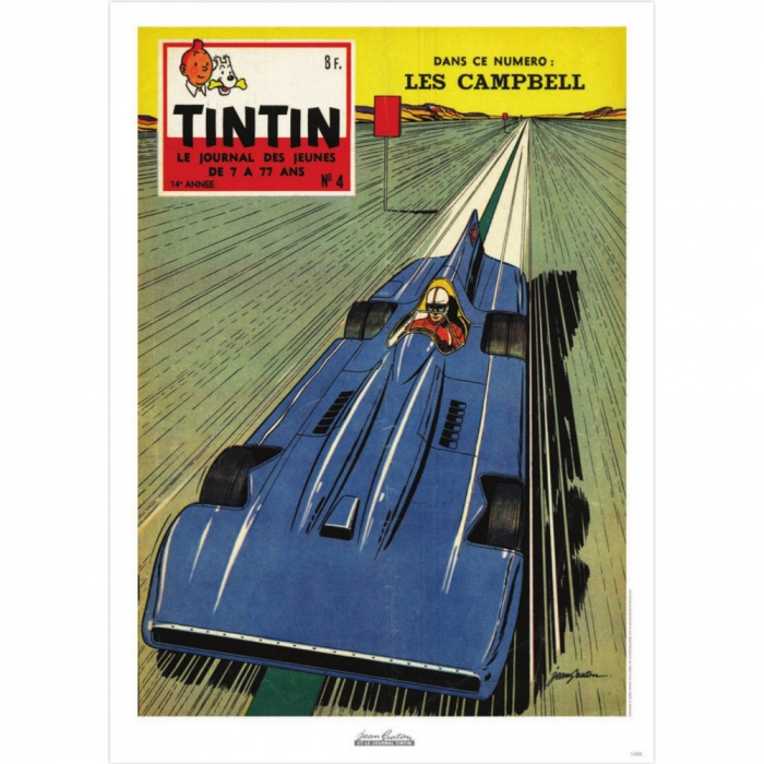 Jean Graton Cover Poster from The Journal of Tintin 1959 Nº04 (50x70cm)