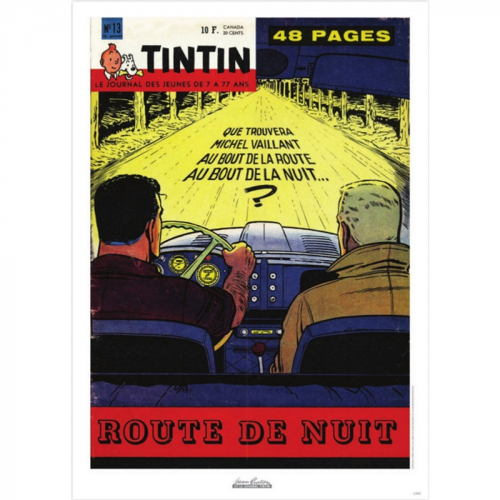 Jean Graton Cover Poster from The Journal of Tintin 1960 Nº13 (50x70cm)