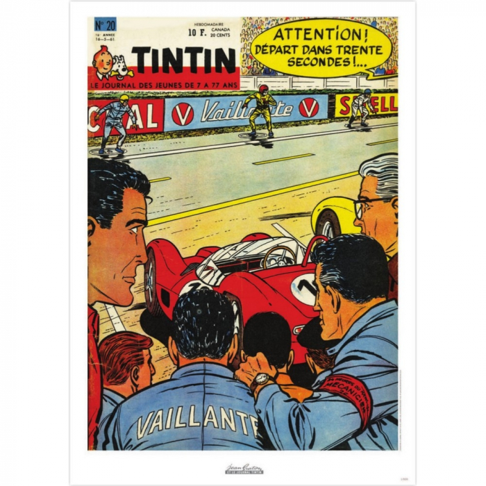 Jean Graton Cover Poster from The Journal of Tintin 1961 Nº20 (50x70cm)
