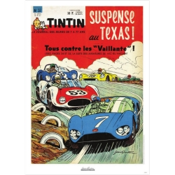 Jean Graton Cover Poster from The Journal of Tintin 1961 Nº37 (50x70cm)
