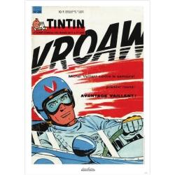 Poster de couverture Jean Graton dans Le Journal de Tintin 1964 Nº28 (50x70cm)
