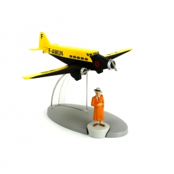 Tintin Figure collection Air France plane The Broken Ear Nº20 29540 (2014)