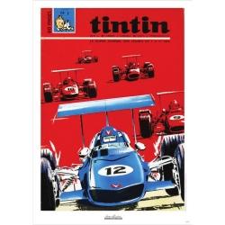 Póster de portada Jean Graton en El Journal de Tintin 1969 Nº02 (50x70cm)
