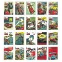 Set de 20 Postales de portada Jean Graton del Journal de Tintin (10x15cm)