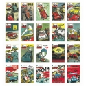 Set of 20 Jean Graton Cover Postcards from The Journal of Tintin (10x15cm)